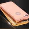 (025-965)เคสมือถือไอโฟน Case iPhone7/iPhone8 เคสกรอบบัมเปอร์โลหะฝาหลังอะคริลิคลายไม้