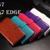 (027-526)เคสมือถือซัมซุง Case Samsung Galaxy S7 เคสพลาสติกสมุดเปิดข้างสไตล์ Crazy Horse