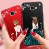 (587-007)เคสมือถือซัมซุง Case Samsung A7 (2016) เคสนิ่มแฟชั่นลายผู้หญิงขอบเพชร