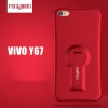 (754-005)เคสมือถือวีโว Vivo V5/V5S/Y67 เคสนิ่มทรงเว้าขาตั้งในตัว 360 องศาสไตล์กันกระแทก