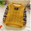 เสื้อกันหนาวสีเหลือง มีขนด้านใน ใส่แล้วอุ่น สำหรับอายุ 1-4 ปี
