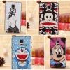(008-021)เคสมือถือซัมซุงโน๊ต Case Note4 เคสนิ่มขอบพลาสติกสีพื้นหลังลายการ์ตูนน่ารักๆ