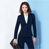 ชุดสูทผู้หญิง สีกรม ผ้าฮานาโกะ สูท+กางเกง Size L **มีของแถม**