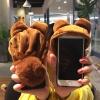 (756-001)เคสโทรศัพท์มือถือ Samsung Note2 เคสนิ่มชุดหมี