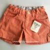Oshkosh กางเกงขาสั้น สีโอรส แต่งกระดุมปลายขา ปรับเอวได้ ผ้าไม่หนา ใส่ชิวๆ ได้ทุกวันค่ะ size 4, 5, 6x,7