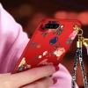 (388-127)เคสโทรศัพท์มือถือวีโว่ Vivo V9 เคสนิ่มลายดอกไม้สายคล้องเข้าชุด