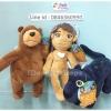 ตุ๊กตาเซ็ต The jungle book เมาคลีลูกหมาป่า ขนาด 7 นิ้ว (ราคาต่อเซ็ต 3 ตัว)