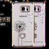 (151-362)เคสมือถือซัมซุง Case Note5 เคสพลาสติกใสขอบชุบแววพื้นหลังลายดอกไม้