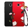 (477-023)เคสโทรศัพท์มือถือ Samsung Note2 เคสนิ่มลายดอกไม้พร้อมเชือกพู่ห้อยเข้าชุดน่ารักๆ