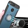 (025-950)เคสมือถือ Case Huawei Honor V10 เคสนิ่มด้านใน กรอบพลาสติกคลุมด้านนนอกพร้อมแหวนมือถือโลหะยึดติดกับแม่เหล็กได้ หมุนได้ 360 ํ