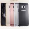 (025-1141)เคสมือถือ Case Samsung S8 Plus/ S8+ เคสกรอบบัมเปอร์โลหะฝาหลังอะคริลิคลายโลหะ กันกระแทกได้ดี