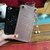 (025-1166)เคสมือถือวีโว่ Vivo V5 Plus/X9 เคสนิ่มซิลิโคนกลิตเตอร์(Glitter)ลายดาววิ้งค์ พร้อมสายจี้ดาวมุก สวยๆ
