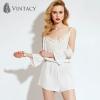 Long Sleeve Princess White Jump Suit ชุดจั๊มสูทสีขาวเจ้าหญิง แขนยาวเปิดไหล่ ไซส์ S