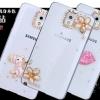 (022-062)เคสมือถือซัมซุงโน๊ต Case Note3 เคสพลาสติกใสประดับคริสตัลสวยๆ