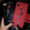 (730-006)เคสโทรศัพท์มือถือหัวเว่ย Case Huawei Nova3e/P20lite เคสนิ่มดอกกุหลาบเพชรสายคล้องสวยๆแฟชั่น