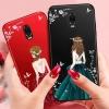 (587-014)เคสมือถือซัมซุง Case Samsung J7+/Plus/C8 เคสนิ่มแฟชั่นลายผู้หญิงขอบเพชร