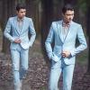 สูทชาย,ชุดสูท สีฟ้า +เสื้อกั๊ก คลิกเพื่อดู Size