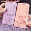 (391-018)เคสมือถือซัมซุง Case Samsung S6 edge เคสนิ่มสมุดเปิดข้างลายแมวน่ารักๆ DOMI CAT