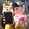(686-001)เคสมือถือ Case Huawei P8 Lite เคสนิ่มชุดฮู้ดตุ๊กตาสวมโทรศัพท์นุ้งหมาชิบะและนุ้งหมูน้อยสีชมพู