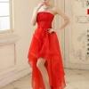 ชุดราตรี หน้าสั้นหลังยาว สีแดง Size M งานร้อยหลัง
