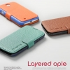 Verus : Layered Ople Leather Case Cover For Samsung Galaxy S4, S IV, i9500