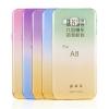 (291-032)เคสมือถือซัมซุง Case Samsung A8 เคสนิ่มใสลายสีทูโทน