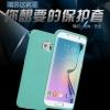 (003-001)เคสมือถือซัมซุง Case Samsung S6 edge เคสนิ่มขอบสี+ฝาหน้าเคสกระจกนิรภัยกันรอยกันกระแทก