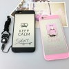(025-1107)เคสมือถือไอโฟน Case iPhone 6Plus/6S Plus เคสนิ่มซิลิโคนพื้นหลังแววกึ่งกระจก แบบมีแหวนมือถือ/ไม่มีแหวนมือถือ พร้อมสายคล้องคอถอดแยกสายได้