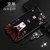 (025-1154)เคสมือถือ Case Huawei P9 เคสนิ่มซิลิโคนลายการ์ตูนผู้หญิง ขอบเพชรพร้อมสายคล้องคอถอดแยกสายได้