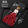 (พร้อมส่ง)เคสมือถือไอโฟน Case iPhone7 Plus/iPhone8 Plus เคสนิ่มซิลิโคนลายการ์ตูนผู้หญิง ขอบเพชรพร้อมสายคล้องคอถอดแยกได้