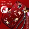 (388-122)เคสมือถือซัมซุงโน๊ต Case Note4 เคสนิ่มลายดอกไม้สายคล้องเข้าชุด