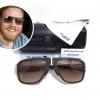 แว่นกันแดด ic berlin model M8 Pappelplatz gold&aubergine 55-17 <น้ำตาล>
