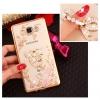 (025-1047)เคสมือถือซัมซุง Case Samsung Galaxy J5 2016 เคสนิ่มซิลิโคนใสลายหรูประดับคริสตัล พร้อมแหวนเพชรตั้งโทรศัพท์