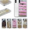 (436-418)เคสมือถือไอโฟน Case iPhone X เคส Glitter ลายอักษรแนวๆ