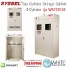 ตู้เก็บสารเคมี Gas Cylinder Storage Cabinet (3-Cylinder) รุ่น WA720103