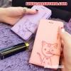 (391-065)เคสมือถือ Case Huawei P7 เคสนิ่มสมุดเปิดข้างลายแมวน่ารักๆ DOMI CAT