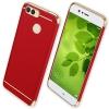(025-1134)เคสมือถือ Case Huawei Nova 2 Plus เคสพลาสติกสีสดใสขอบทองแววสไตล์แฟชั่น