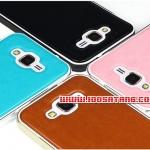 (354-010)เคสมือถือซัมซุง Case Samsung Galaxy J7 เคสกรอบโลหะพื้นหลัง PU สไลด์เทกเจอร์หนัง