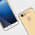 (025-1194)เคสโทรศัพท์มือถือออปโป้ Case OPPO F7 เคสพลาสติกขอบชุบแววแฟชั่น