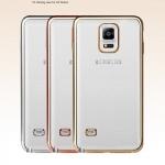 (025-1163)เคสมือถือซัมซุงโน๊ต Case Note4 เคสนิ่มใสเรียบหรูขอบแววสี