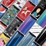 (775-001)เคสโทรศัพท์มือถือ Case OPPO Find X เคสนิ่มพื้นหลังกระจกนิรภัยลายน่ารักๆยอดฮิต
