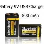 Battery 9V USB Charger LED