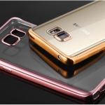 (025-1158)เคสมือถือซัมซุง Case Note5 เคสนิ่มใสเรียบหรูขอบแววสี