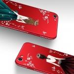 (025-1184)เคสโทรศัพท์มือถือวีโว Vivo Y71 เคสนิ่มแฟชั่นลายผู้หญิงขอบเพชร