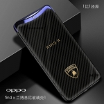 (776-001)เคสโทรศัพท์มือถือ Case OPPO Find X เคสนิ่มพื้นหลังกระจกนิรภัยเคฟล่า lamborghini
