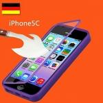 (474-001)เคสมือถือไอโฟน Case iPhone5C เคสนิ่มคลุมเครื่องฝาพับกระจกนิรภัย