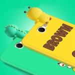 (388-114)เคสมือถือ Samsung Galaxy Note2 เคสนิ่ม 3D เกาะเคส Brown น่ารักๆ