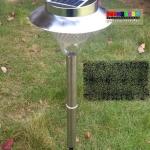 (316-001)โคมไฟสวนพลังงานแสงอาทิตย์หลอด LED 24 หลอด ท่อเหล็กสแตนเลส