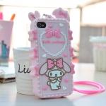 (พร้อมส่ง)เคสมือถือไอโฟน 4/4s Case iPhone เคสนิ่ม Melody 3D น่ารักๆ