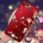 (388-126)เคสโทรศัพท์มือถือหัวเว่ย Case Huawei G7 เคสนิ่มลายดอกไม้สายคล้องเข้าชุด
